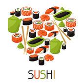 Background with sushi