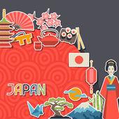 Japan background design