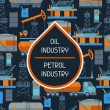 Industrial seamless pattern with oil and petrol ic...
