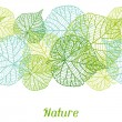 Seamless nature pattern with stylized green leaves...