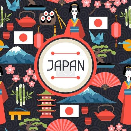 modèle sans couture Japon