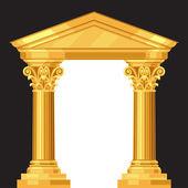 Korintskými realistické Antické řecké chrám se sloupci