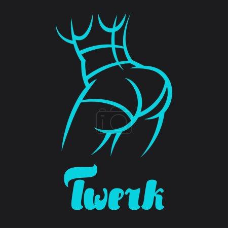 Twerk and booty dance illustration for dancing studio
