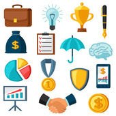 Set of business and finance flat icons