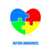 Autism awareness day Card or poster template Vector illustration