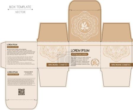 Ilustración de Caja de diseño, matriceria. Plantilla de vector - Imagen libre de derechos