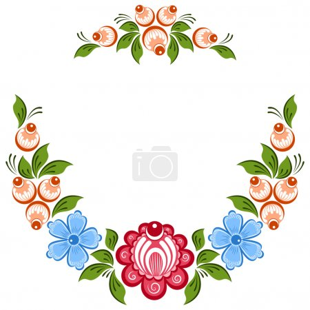 Russian Gorodets ornament