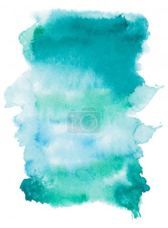 Illustration for Marine watercolor vector background. - Royalty Free Image