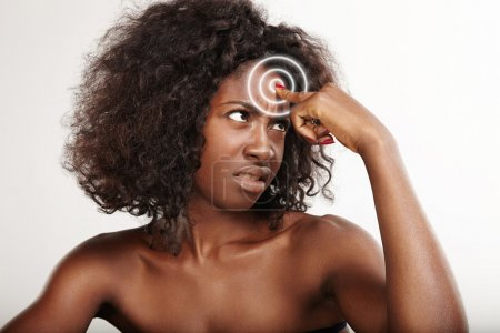 Woman showing wrinkles