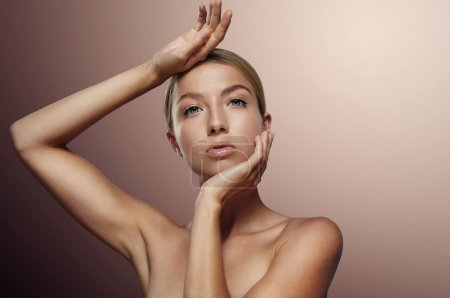 Woman with ideal skin
