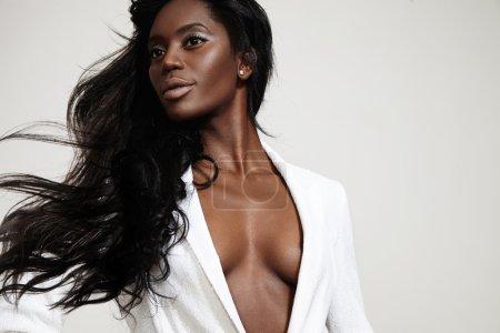 Beauty black woman  posing