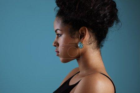 Woman wearing  earring
