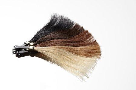 hair samples of gradient colors