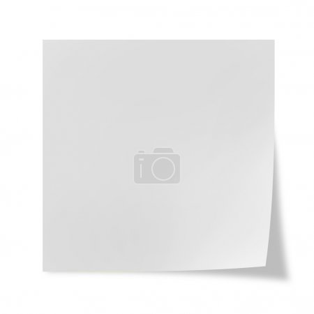 White post it on a white background...