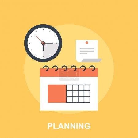 Illustration pour Illustration vectorielle de planification concept design plat. - image libre de droit