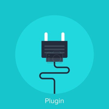 Illustration for Vector illustration of plugin flat design concept. - Royalty Free Image