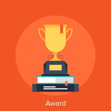 Illustration for Abstract vector illustration of award flat design concept - Royalty Free Image