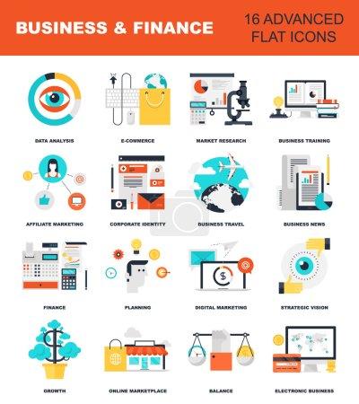 Photo pour Illustration abstraite vectorielle plate des concepts d'affaires et de finance. Éléments pour applications mobiles et web - image libre de droit
