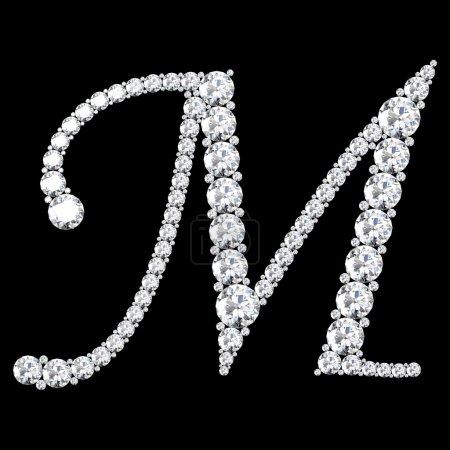Ich bin Brief aus Diamanten und Edelsteinen