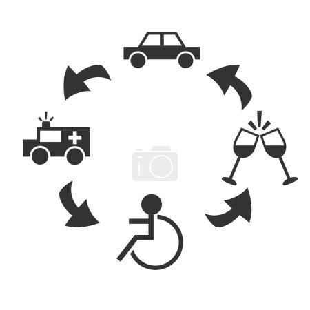 Drunk drive concept