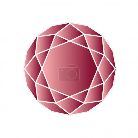 Red ruby in round shape