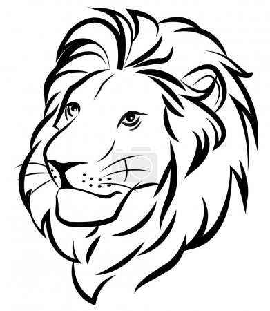 Illustration for Head of a lion - Royalty Free Image