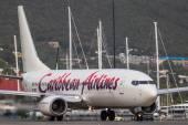 Boeing 737 Caribbean Airlines na letiště Saint Martin