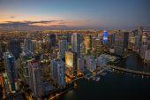 Miami city aerial view