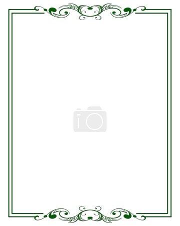 Illustration for Simple ornamental decorative frame. - Royalty Free Image