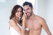 Použitím krém na obličej manžel manželka