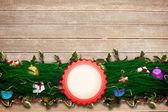 Jedle větev Vánoční dekorace girlanda
