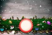 Složený obraz jedle větev Vánoční dekorace girlanda