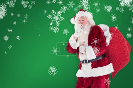 Santa asking for quiet