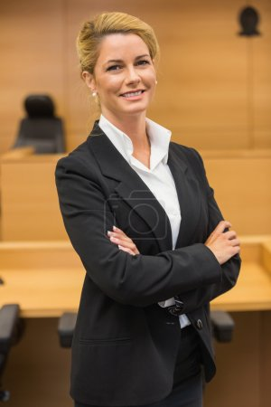 Smiling lawyer looking at camera