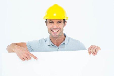 Architect with bill board