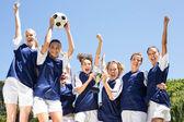 Ünneplése a win szép labdarúgók