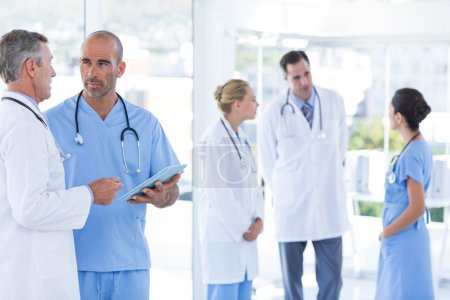Team of doctor discussing together