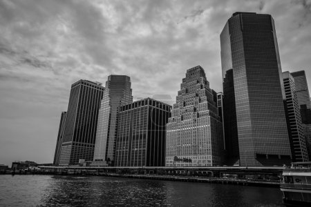 Manhattan in black and white colors