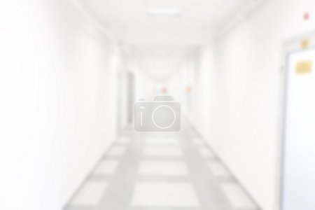 Abstract blur image, corridor of the office building