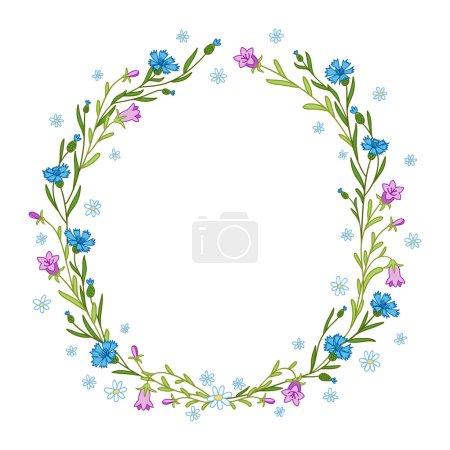 Floral wreath composition