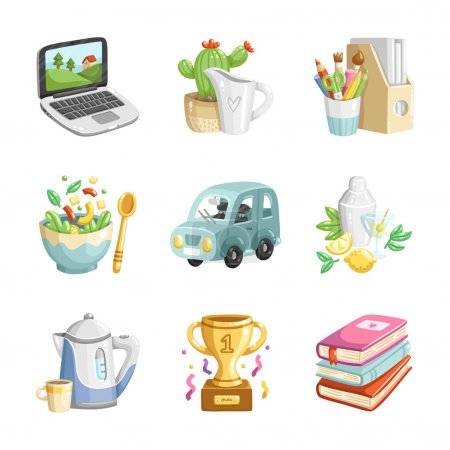 Colorful miscellaneous icons collection