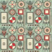 Seamless viking pattern can be used for graphic design textile design or web design