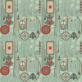 Seamless viking pattern 03