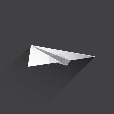 flat paper plane web icon.