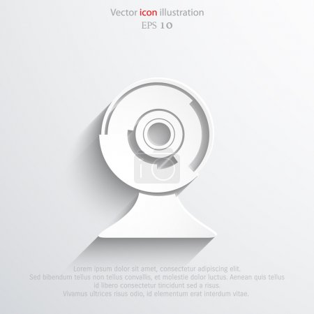 Vector web cam icon