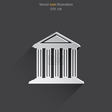 Illustration for Vector bank school university building web icon Eps 10. - Royalty Free Image