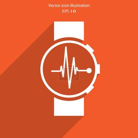 Vector medical watch web icon. Eps 10....