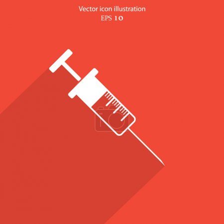 Vector syringe web icon.