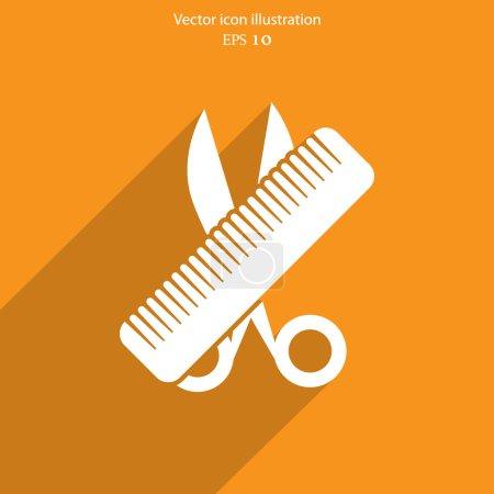 Vector hair salon tools