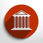 Vector bank school university building web icon Eps 10